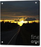 Sunset On The Highway Acrylic Print