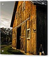 Sunset On The Horse Barn Acrylic Print