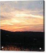 Sunset On The Hudson River Acrylic Print