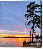 Sunset On The James River Acrylic Print