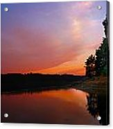 Sunset On The Kennebec River Acrylic Print
