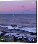 Sunset On The Marginal Way In Ogunquit Maine Acrylic Print