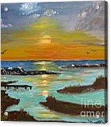 Sunset On The North Sea Acrylic Print
