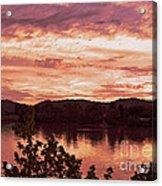 Sunset On The Ohio River  Acrylic Print