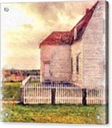 Sunset On The Old Farm House Acrylic Print