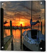 Sunset On The Outter Banks Acrylic Print