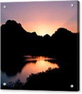 Sunset On The Oxbow Acrylic Print