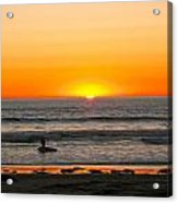 Sunset On The Pacific Acrylic Print