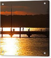 Sunset On The Pier Acrylic Print