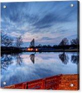 Sunset On The Pond Acrylic Print