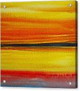 Sunset On The Puget Sound Acrylic Print