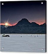 Sunset On The Salt Bonneville 2012 Acrylic Print by Holly Martin