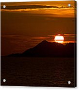 Sunset On The Sea Of Cortez Acrylic Print by Robert Bascelli