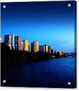 Sunset On The Seine Acrylic Print