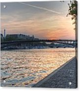 Sunset On The Seine Acrylic Print