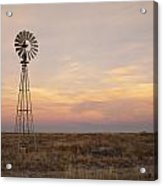 Sunset On The Texas Plains Acrylic Print by Melany Sarafis