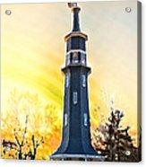 Sunset On The Windmill Acrylic Print