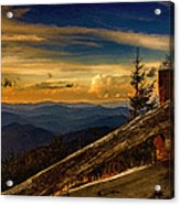 Sunset On Top Of Mount Mitchell Acrylic Print