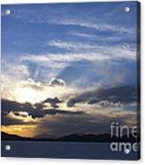 Sunset On Uyuni Salt Flats Acrylic Print