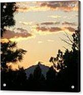 Sunset On Washington Acrylic Print