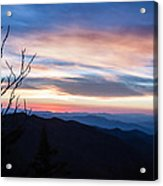 Sunset On Water Rock Knob Blue Ridge Parkway Scenic Photo Acrylic Print