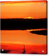 Sunset On Whitefish Lake Norhwest Territories Canada Acrylic Print
