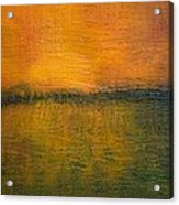 Sunset on Wood Acrylic Print