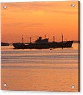 Sunset Over A Ship Acrylic Print