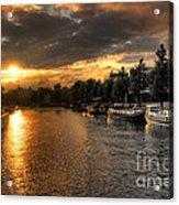 Sunset Over Amsterdam  Acrylic Print