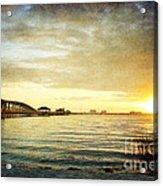 Sunset Over Biloxi Bay Acrylic Print