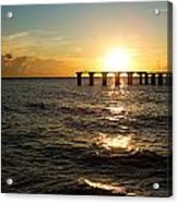 Sunset Over Boca Grande Florida Acrylic Print by Fizzy Image
