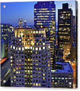 Sunset Over Boston - Financial District Skyline Acrylic Print