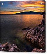 Sunset Over Bowen Island Acrylic Print by Alexis Birkill