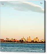 Sunset Over Buffalo New York Acrylic Print