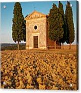 Sunset Over Cappella Di Vitaleta Acrylic Print