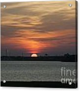 Sunset Over Charleston Harbor Acrylic Print