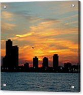 Sunset Over Chicago 0349 Acrylic Print