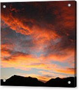 Sunset Over Estes Park Acrylic Print