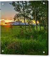 Sunset Over Farmers Field Acrylic Print