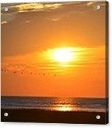 Sunset Over Gray's Beach Yarmouth Cape Cod Acrylic Print