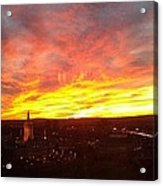 Sunset Over Hartford Acrylic Print