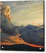 Sunset over Holy Cross Mountains Acrylic Print