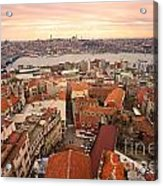 Sunset Over Istanbul Acrylic Print