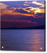 Sunset Over Korcula Acrylic Print