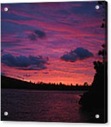 Sunset Over Lake Bailey Acrylic Print