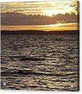 Sunset Over Lake Cazaux Acrylic Print