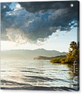 Sunset Over Lake Maggiore In Italy Acrylic Print