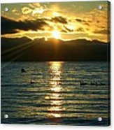 Sunset Over Lake Tahoe Acrylic Print