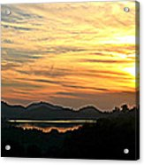 Sunset Over Lake Wohlford Acrylic Print