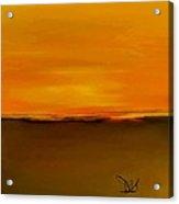 Sunset Over Landscape  #8 Acrylic Print